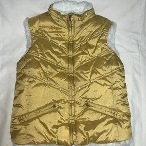 THE CHILDREN'S PLACE Gold Puffy Vest.